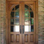 brick home wood door installation