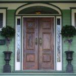 wood front door installation